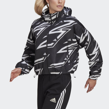 Women's Athletics Black adidas Sportswear Adjustable Woven Jacket