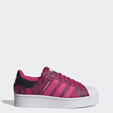 Women Originals Burgundy Superstar Bold Shoes