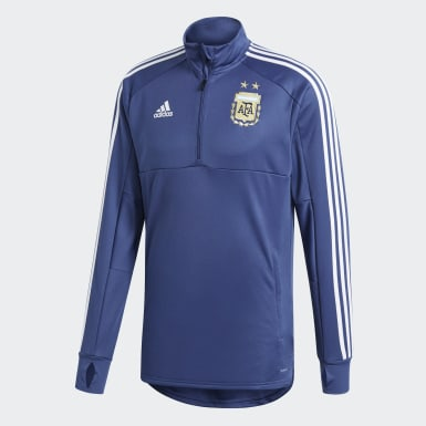 Men Football Blue Argentina Training Top