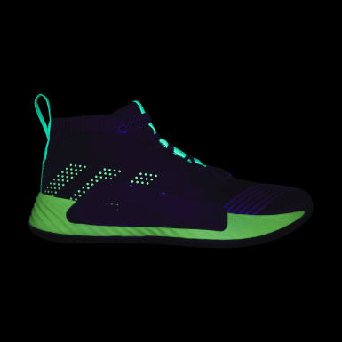 Men Basketball Black Dame 5 Star Wars Lightsaber Green Shoes