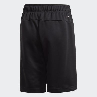 Kids 4-8 Years Training Black Linear Shorts