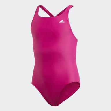 Costume da bagno Solid Fitness Rosa Ragazza Nuoto