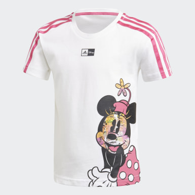 Mädchen Training Disney Minnie Mouse T-Shirt Weiß