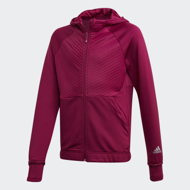Felpa con cappuccio COLD.RDY Full-Zip Bordeaux Ragazza Training