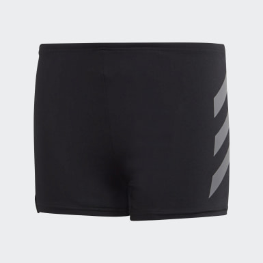 Boys Swimming Black Performance Swim Briefs