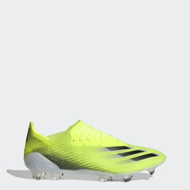 Men Football Yellow X Ghosted.1 Firm Ground Boots