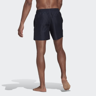 Solid Swim Shorts Niebieski