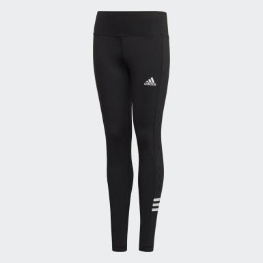 Calzas Branded - Tiro Medio Negro Niña Training