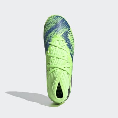 Kids Football Green Nemeziz 19.3 Turf Boots