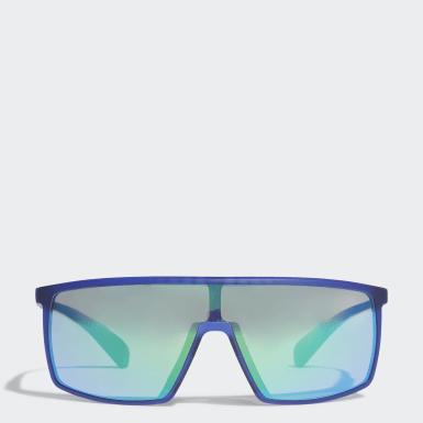 Occhiali da sole SP0004 Shiny Black Injected Sport Blu Padel Tennis