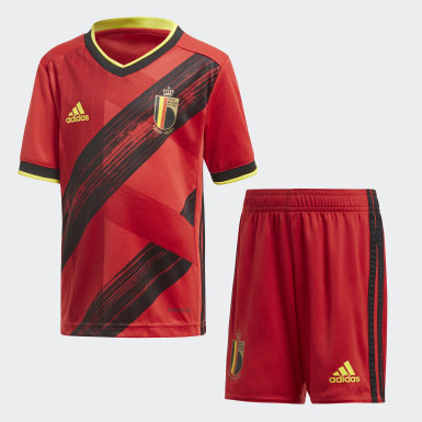 Kinderen Voetbal rood België Mini-Thuistenue