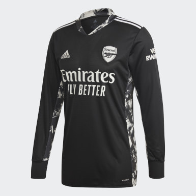 Herr Fotboll Svart Arsenal Home Goalkeeper Jersey
