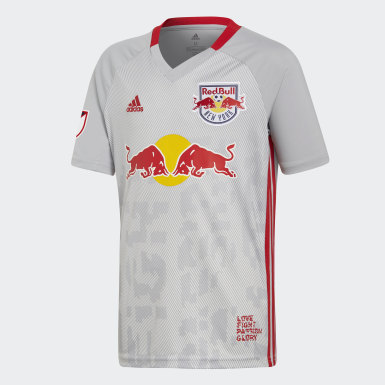 Youth Soccer Grey New York Red Bulls Home Jersey