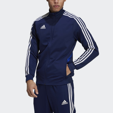 Men Soccer Blue Tiro 19 Training Jacket