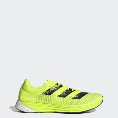 Men Running Yellow Adizero Pro Shoes