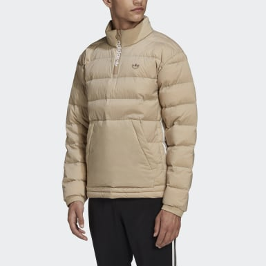 Mænd Originals Brun Lightweight Down Overhead Half-Zip jakke