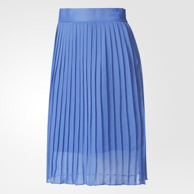 Women Originals Blue Ocean Elements Pleated Skirt