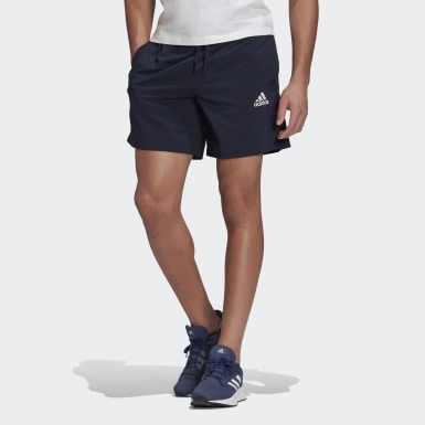 Men Sport Inspired Blue AEROREADY Essentials Chelsea Small Logo Shorts