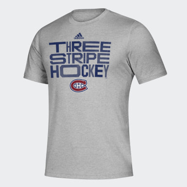 Men Training Multicolor Canadiens Three Stripe Hockey Tee