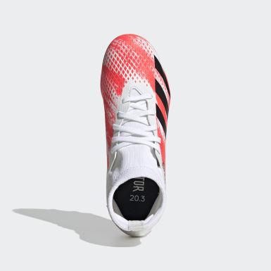 Boys Fodbold Hvid Predator 20.3 Multi-Ground støvler