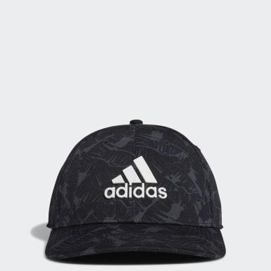 Men Golf Black Tour Print Hat