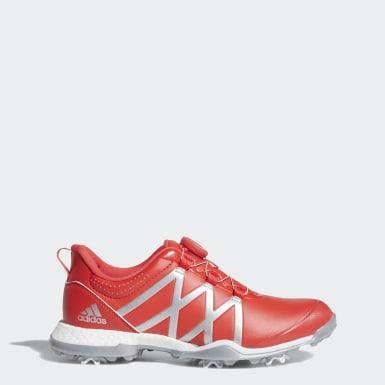 Women Golf Red adipower Boost Boa Shoes