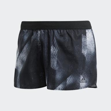 Shorts Split Sub Negro Mujer Running