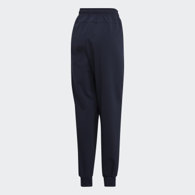 Men Lifestyle Blue Essentials Plain Tapered Stanford Pants