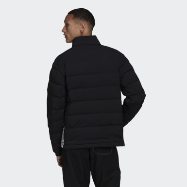 Men's Originals Black Lightweight Down Overhead Quarter-Zip Jacket