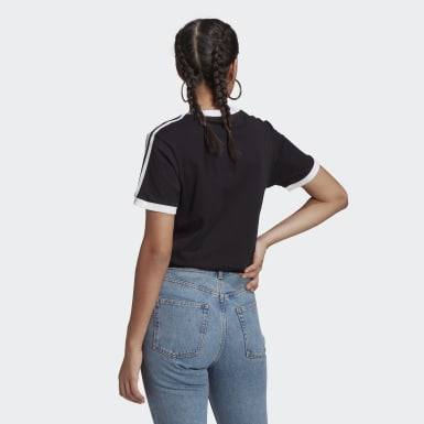 Women Originals Black Adicolor Classics 3-Stripes Tee
