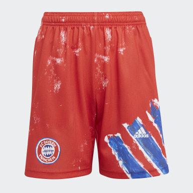 Barn Fotboll Röd FC Bayern Human Race Shorts