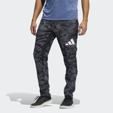 Men Running Black Training 3-Stripes Camo Joggers