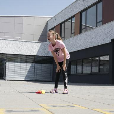 Dievčatá Athletics čierna Legíny Essentials Linear