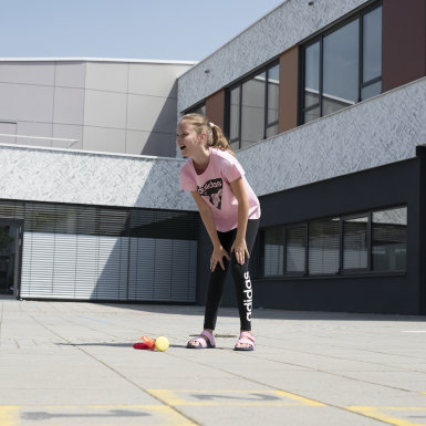 Leggings Linear Essentials Preto Raparigas Athletics