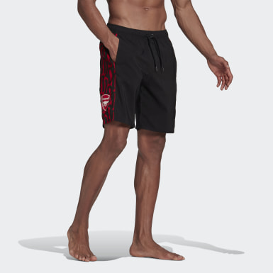 Men Swimming Black Arsenal Swim Shorts