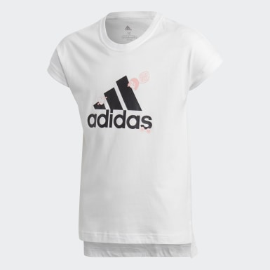 Kids Lifestyle White Collegiate Tee