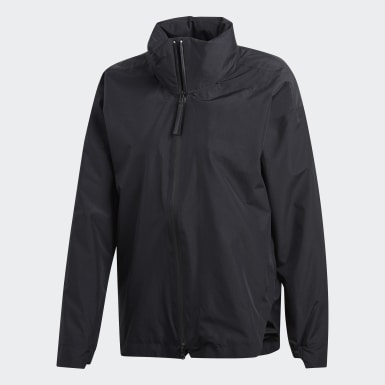 Women's Lifestyle Black Climaproof Rain Jacket