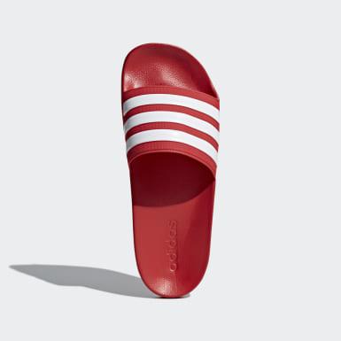 Plavání červená Pantofle Adilette Shower