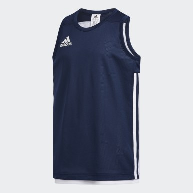 Kinderen Basketbal blauw 3G Speed Reversible Shirt