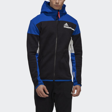 Men's Athletics Black adidas Z.N.E. Full-Zip Hoodie