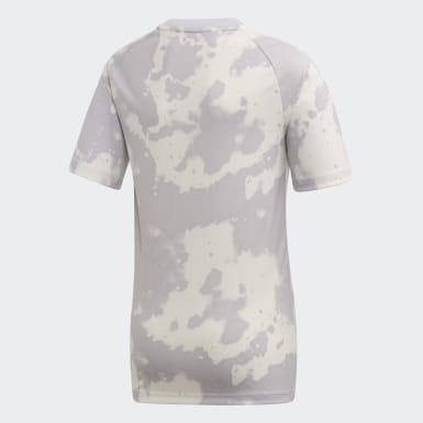 Camiseta calentamiento Real Madrid Gris Niño Fútbol