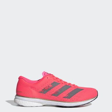 Men Running Pink Adizero Adios 5 Shoes