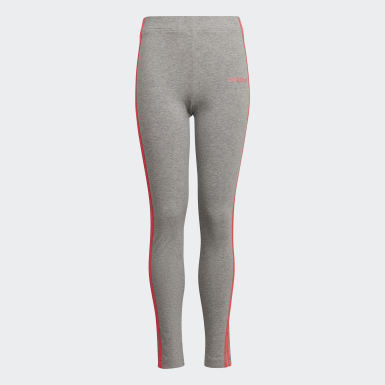 Youth 8-16 Years Athletics Grey Essentials 3-Stripes Leggings