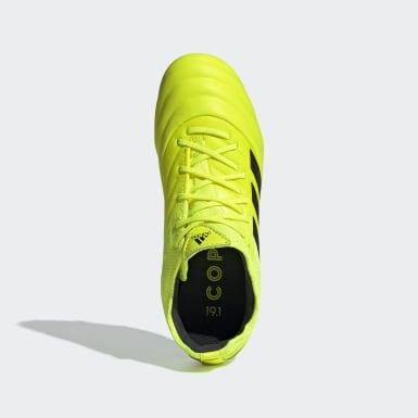 Botas de Futebol Copa 19.1 – Piso firme Amarelo Criança Futebol