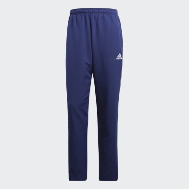 Männer Fußball Core 18 Präsentationshose Blau