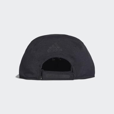 Tennis Black Perforated Runner Cap