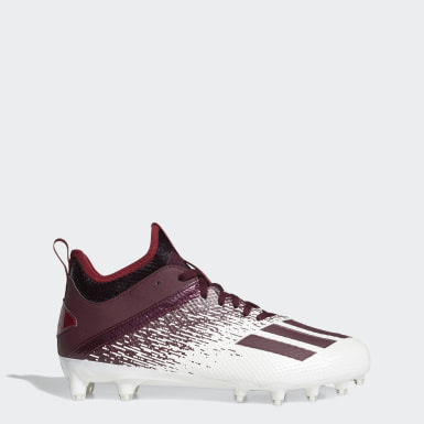 Men's Football White Adizero Scorch Cleats