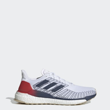 Men Running White Solarboost 19 Shoes