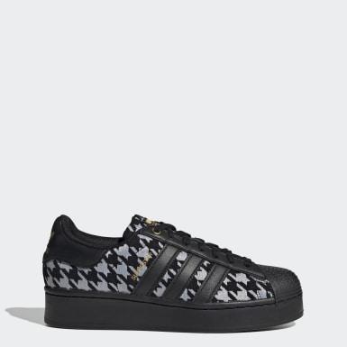 Women Originals Black Superstar Bold Shoes