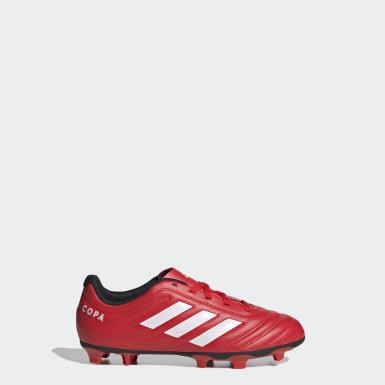 Zapatos de Fútbol Copa 20.4 Terreno Firme Rojo Niño Fútbol